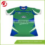 cheap price IRELAND rugby shirt/ custom sublimated blank rugby jersey made in china