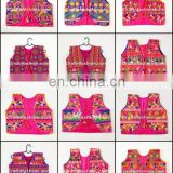 Indian embroidered short jacket-Shrug- Gujarati Satin embroidery ladies Koti- Gujarat Hand embroidered Shrug
