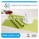 Hot sale green rectangle pvc woven mesh placemats