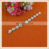 Graceful wholesale sunflower crystal rhinestone trims elegant trimming for decoration
