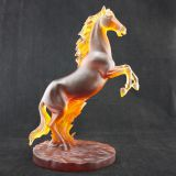 Pate-De-Verre European Style crystal Standing Horse Figurine for Home Decoration