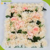 New design silk artificial wedding rose flower hanging panels wall