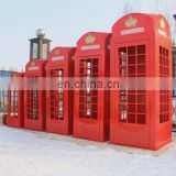 Metal British telephone booth for Decoration