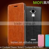 2016 New MOFi Case Housing for Coolpad Note 3, Mobile Phone Coque Flip Leather Back Cover for Coolpad Dazen Note3