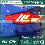 AKD Car Styling for New City LED Tail Light Tail Lights 2014-2015 Rear Trunk Lamp DRL+Turn Signal+Reverse+Brake Orignal Design