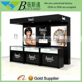 wooden glass watch display kiosk showcase decoration for shop