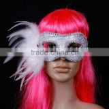 Hot sale Silver wholesale masquerade masks with stick halloween mask