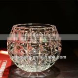 ball shape glass candle holder