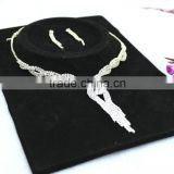 Wholesale fashion indian wedding jewelry sets diamond luxury bridal necklace set