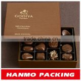 brown kraft food grade chocolate box custom design