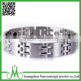 Mens magnetic health bracelets 316l stainless steel silver and gold energy products wholesale