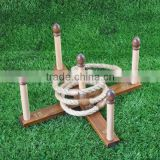 Ring toss game wood, garden ring toss game set for children