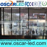 Transparent glass led display light bar video display building facade media display/mesh led display