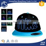 Custom different types of led light fashion hats and caps