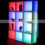 2016 New Design 16 Colors LED Wine Cabinet DIY Building Blocks LED Light-up Liquor Shelf Display
