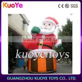 inflatable Christmas man, inflatable fixed Santa Claus, Christmas father on chair inflatable