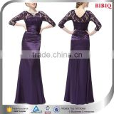 bridesmaid long sleeve purple long dresses lace wedding dress patterns evening dresses from dubai