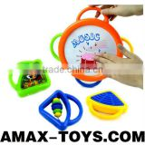 bte-0858319 Toys drum Children cartoon toys drum and rattles set(4 in 1)