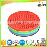Round Silicone placemat Durable Non-slip Heat Resistant Dining Table Mats Coffee Cup Mat