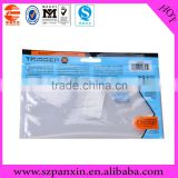 Made in China quality zipper bag with perforation/retail hanger zipper bag/hang hole zip lock packing bags