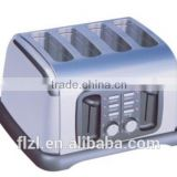 commercial/home stainless steel 4 slice bread toaster