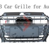 13+ ABS Material Sliver A3 S3 Front Car Grill for Audi