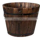 outdoor wooden planter basket for plants