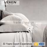 VEKEN products 100% Pure Flax Linen QUEEN Size Bedding Set of Pure Color