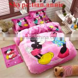 Kids Mickey high quality flannel bused hotel bedding set for home ! China factory high quality