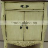 Stocklots Hand painted two doors light brown cabinet with one drawer and Two Tone,antique solid wooden living room cabinet
