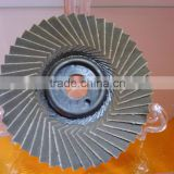 SIZE 100 FLAP WHEEL USING HEATED A/O FOR STEEL AND STAINLESS METAL POLISING AND GRINDING