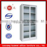 Bookcase with glass doors model / KD sliding glass door filing cabinet / Steel lockable cabinet with glass door                                                                         Quality Choice