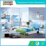 Colorful bedroom baby single bed for boy