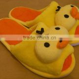plush chicken slipper/soft toy factory made plush chicken slipper/yellow chicken soft slipper/custom animal slippers
