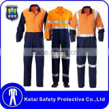 customized cotton fabric fire retardant coverall safety hi vis safety coverall for adult                                                                                                         Supplier's Choice