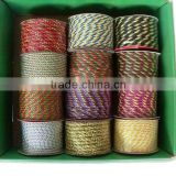HOT SALE ! Gift Wrapping Decorations Colorful Cotton Twisted Ribbon, Rayon Twisted Cord, Twisted Rope
