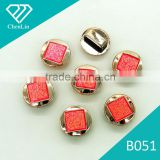 B051 ABS CCB alloy imitation plastic UV gold plated beads charm jewelry fittings shoes decoration