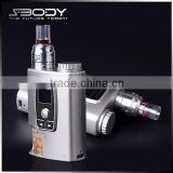 s-body hight quality e mods ecigarette S-CA3 electronic hookah cigarette e cigarette mod bottom feeder box mod kit with DIY RDA