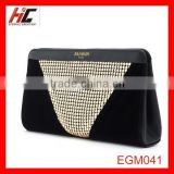 Lady Sequin match black Luxury velvet clutch bag fashion evening bag alibaba china wholesale