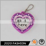 Fashion plastic keychain photo holder,heart shape photo keychain/