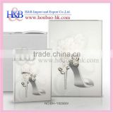 H&B new white 8x12 12x18 acrylic wedding digital photo album