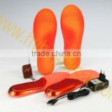 heat/heating/heated insole for shoes with rechargeable li-battery for winter outdoor sports like fishing