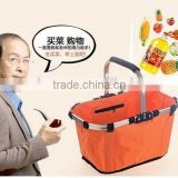 high quality picnic basket folding basket /shopping basket/Cheap price Insulated picnic basket