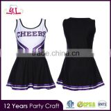 High School Girl Sports Team Cheer Girls Uniform Cheerleader Costume Outfit W/Pom Poms