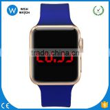 LED016 Children Smartwatch-shaped 38mm Display Water Resistant Sport Watch Plastic - Blue Silicone