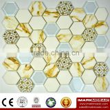 "IMARK 3D Inkjet Printing Comment tiles in 2"" Hexagonal Glass Mosaic Tile CODE IH6-008                                                                         Quality Choice"