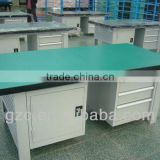 stainless steel static free workbench with drawer and cabinet