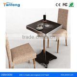 Water-proof 32inch interactive led coffee table with Capacitive touchscreen and RFID card reader