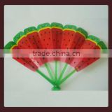 Yiwu 2014 newly custom advertisement fruit pp hand fan,plastic fan