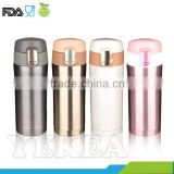 Wholesale Fashion Stainless Steel double wall Coffee Vacuum Thermo Bottle Vacuum Flask with a safety lock